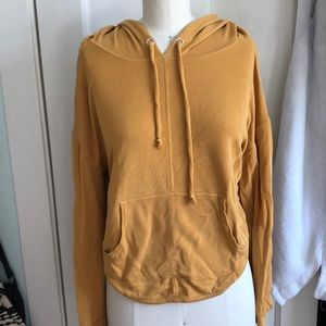 Yellow/ mustard cut out hoodie